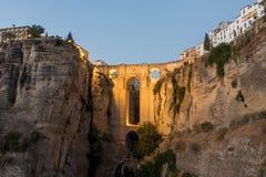 Roman Bridge Puente Nuevo Ronda, Espagne Photos libres de droits