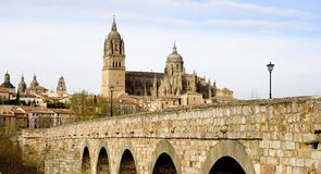 Roman Bridge in Salamanca Stock Photos