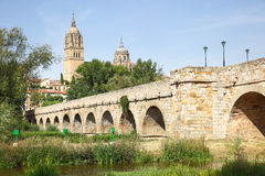 Roman bridge in Salamanca Royalty Free Stock Photography