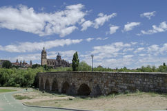 Roman Bridge in Salamanca Stock Photography