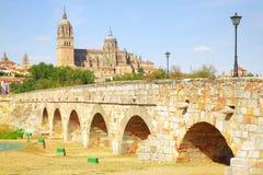 Roman bridge in Salamanca Stock Images