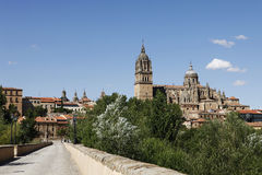Roman bridge in Salamanca, Spain Royalty Free Stock Photos