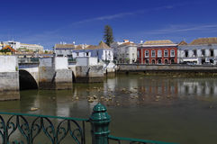 Roman bridge in Tavira Stock Images