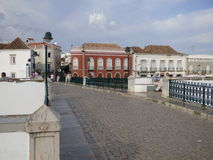 Roman bridge Tavira royalty free stock images