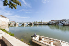 Roman Bridge in Tavira Portugal Royalty Free Stock Photos