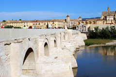 Roman bridge to Cordoba Royalty Free Stock Photos