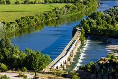 Roman bridge, Toro. Roman bridge att Toro, Zamora Province, Castile and Leon, Spain stock photos