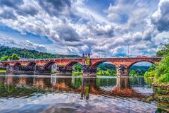 The Roman bridge in Trier royalty free stock photography
