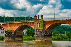 The Roman bridge in Trier Royalty Free Stock Image