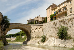 Roman bridge in Vaison, France Stock Images
