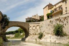Roman bridge in Vaison, France Stock Images