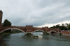 Roman bridge, Verona, Italy Royalty Free Stock Photos