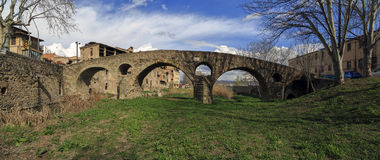 Roman bridge in Vic Stock Photography