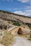 Roman brug in Cendere Stock Foto's