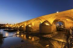 Roman brug in Cordoba Royalty-vrije Stock Foto's