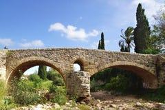 Roman brug in Pollenca Mallorca, Spanje Stock Foto's