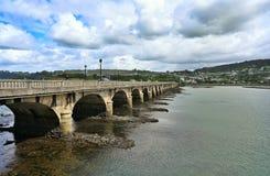 Roman brug in Puentedeuma stock afbeeldingen