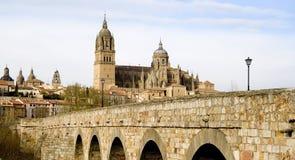 Roman Brug in Salamanca Stock Foto's