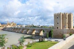 Roman brug van Cordoba stock foto's