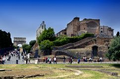 Roman building Royalty Free Stock Images