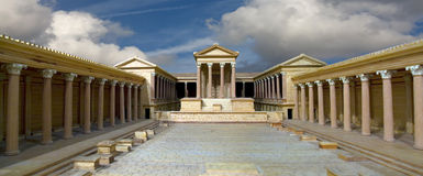 Roman building Royalty Free Stock Image