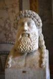 Roman Bust antico nella galleria Borghese Roma Ital Immagine Stock