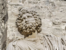Roman bust beared Stock Image