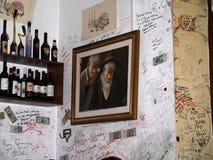 Roman Cafe en la ciudad eterna de Roma Italia Fotografía de archivo