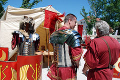 Roman camp Stock Photography