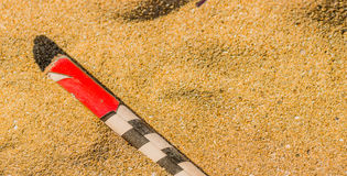 Roman candle on a beach Royalty Free Stock Photography