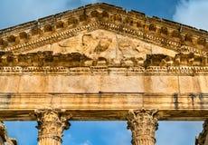 Roman Capitol chez Dougga Site d'héritage de l'UNESCO en Tunisie photos stock