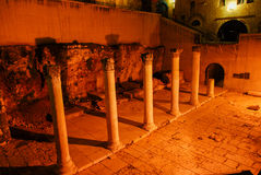 Roman Cardo, Jerusalem, Night Stock Image