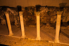Roman Cardo, Jerusalem, Night Royalty Free Stock Photography