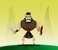 Roman in cartoon style. Royalty Free Stock Photo
