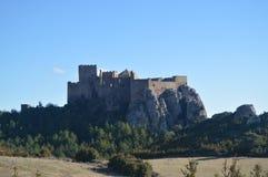 Roman Castle Of Loarre Dating a partir del siglo XI que fue construido por rey Sancho III en el pueblo de Loarre Paisajes, natura imagenes de archivo