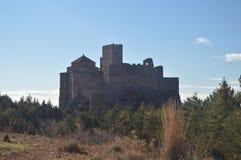 Roman Castle Of Loarre Dating a partir del siglo XI que fue construido por rey Sancho III en el pueblo de Loarre Paisajes, natura imagen de archivo libre de regalías