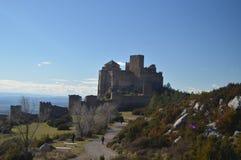 Roman Castle Of Loarre Dating a partir del siglo XI que fue construido por rey Sancho III en el pueblo de Loarre Paisajes, natura fotografía de archivo libre de regalías