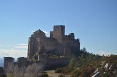 Roman Castle Of Loarre Dating a partir del siglo XI que fue construido por rey Sancho III en el pueblo de Loarre Paisajes, natura foto de archivo