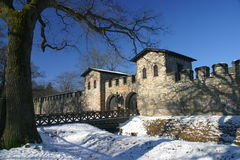 Roman Castle Saalburg. Reconstructed Roman Castle Royalty Free Stock Photo