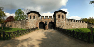 Roman castle Saalburg in the german Taunus mountai Stock Photos