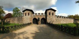 Roman castle Saalburg in the german Taunus mountai Stock Photos