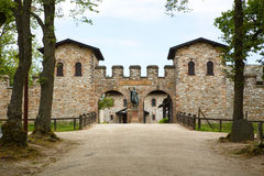 Roman castle Saalburg in the german Taunus mountains near Frankf Royalty Free Stock Image