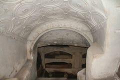 Roman catacombs Royalty Free Stock Photos