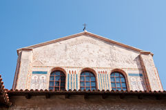 Roman cathedral in Croatian town of Porec Royalty Free Stock Photography
