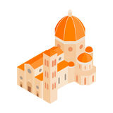 Roman Cathedral icon in isometric 3d style Stock Photos