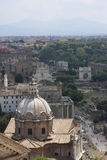 Roman Cathedral And Ruins stock foto's