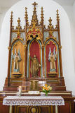 Roman Catholic Altar in Church Stock Photos