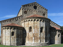 Roman Catholic basilica church of San Pietro Apostolo situated near Pisa at San Piero a Grado, Tuscany Italy Stock Photography