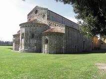 Roman Catholic basilica church of San Pietro Apostolo situated near Pisa at San Piero a Grado, Tuscany Italy Royalty Free Stock Images