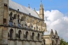 Roman Catholic Cathedral av St John det baptistiskt i Norwich, Norfolk, UK —detalj av arkitekturen arkivbilder